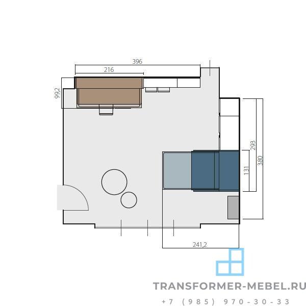 кровать трансформер для подростков 6