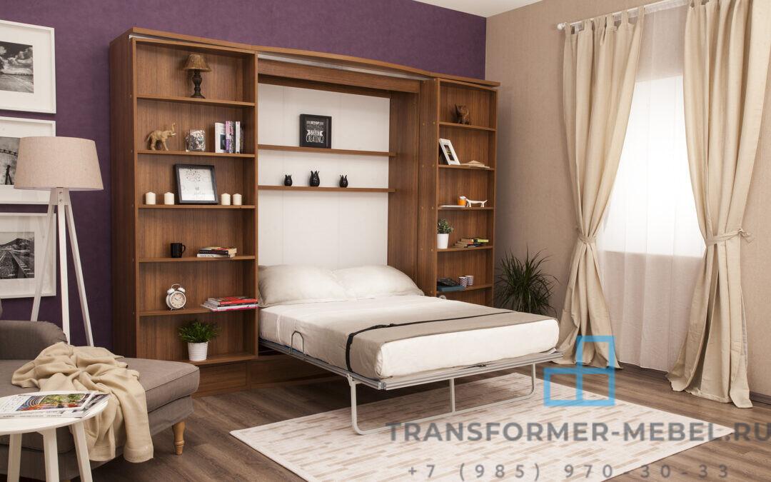 Кровать трансформер со шкафом и библиотекой — Турция