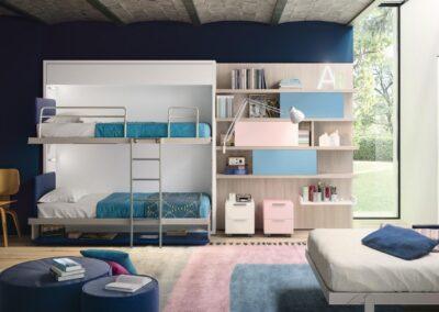 две кровати шкаф 2