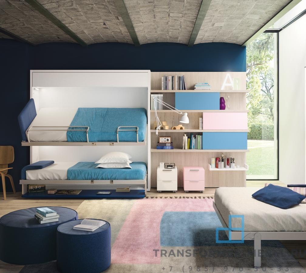 две кровати шкаф 3