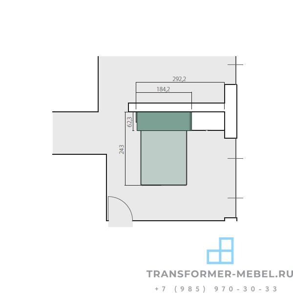 кровать трансформер двуспальная 8