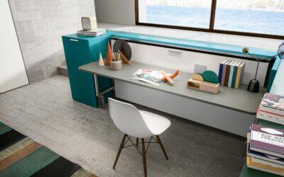 Горизонтальная кровать трансформер со столом — Италия