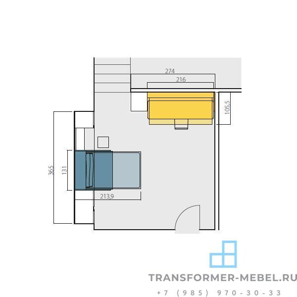 кровать трансформер со столом 3