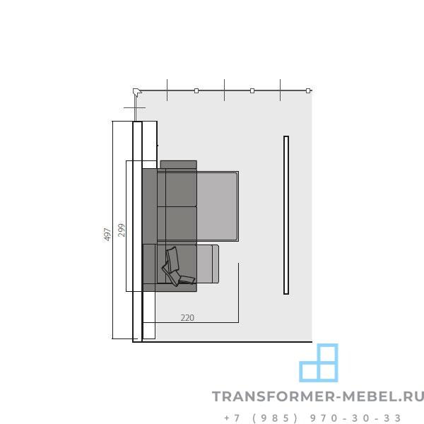 мебель трансформер диван кровать шкаф 3