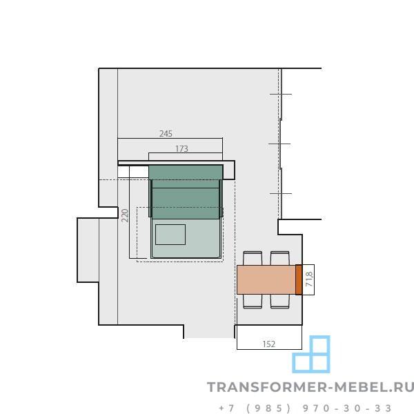 шкаф кровать диван трансформер 3 в 1 - 5