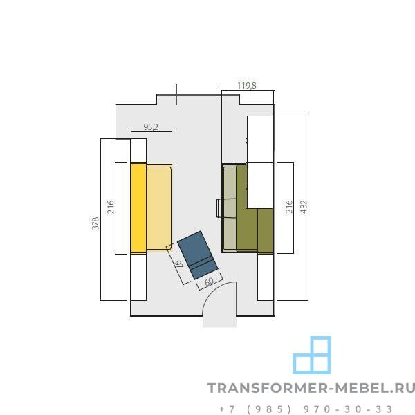 план помещения КП-01