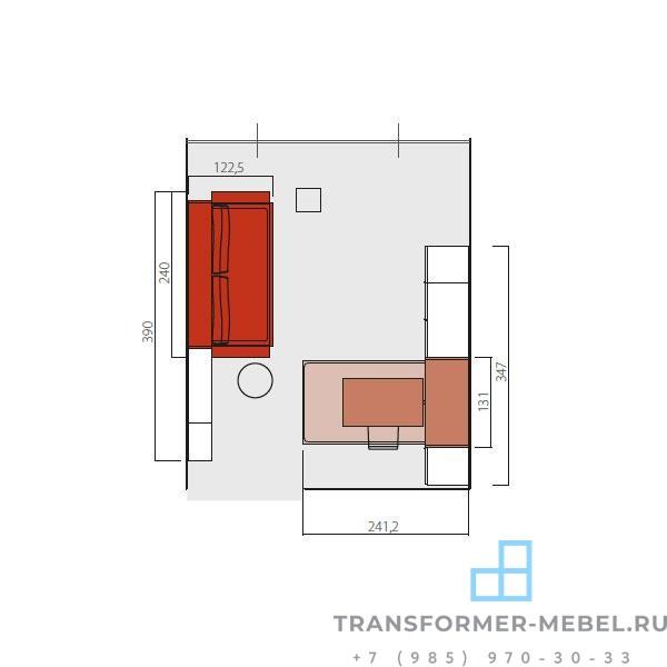 детская шкаф кровать трансформер 4