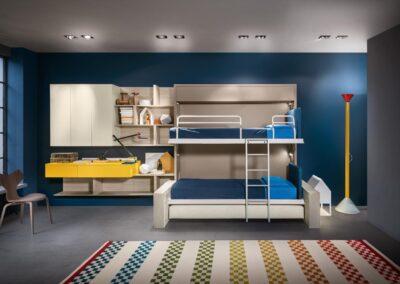двухъярусная кровать с шкафом 1