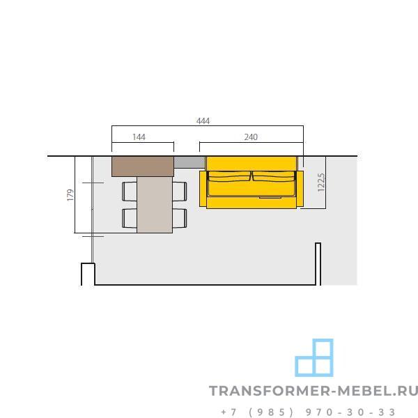 двухъярусная кровать с шкафом 3