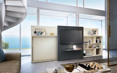 Шкаф/односпальная кровать с телевизором — Италия