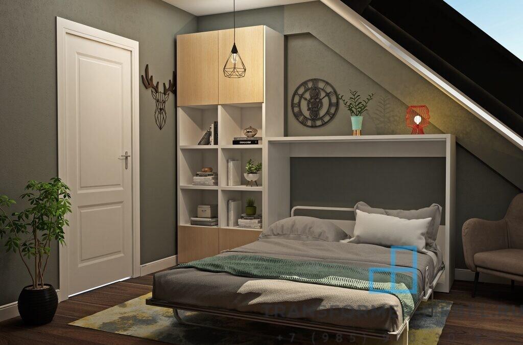 Комод трансформер с двуспальной кроватью-3