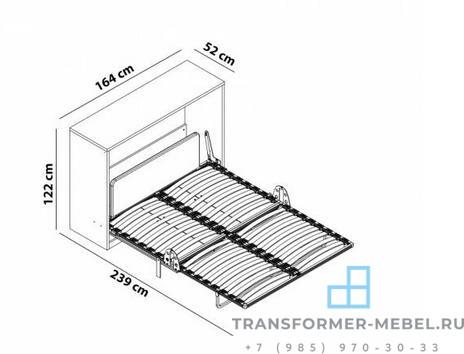 Комод трансформер с двуспальной кроватью-4