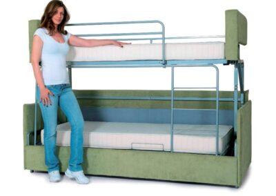 диван в двухъярусную кровать 16