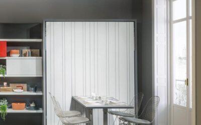 Двуспальная шкаф кровать с обеденным столом — Италия