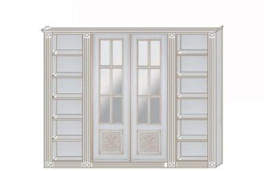 Кровать трансформер с библиотекой с дверями купе — Россия