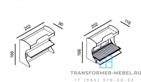 детские двухъярусные кровати трансформеры - 5