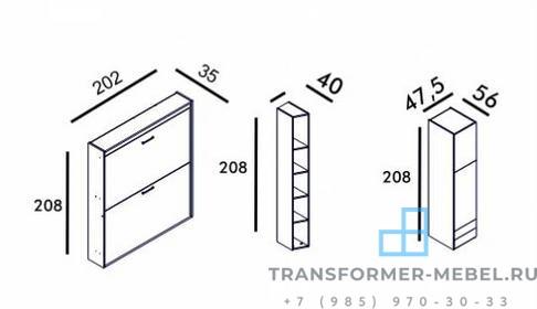двухъярусная кровать шкаф трансформер - 7