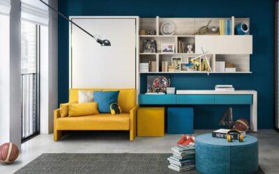 Откидная кровать вертикальная встроенная с диваном — Италия