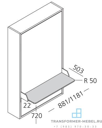 детская кровать со столом и шкафом - 10