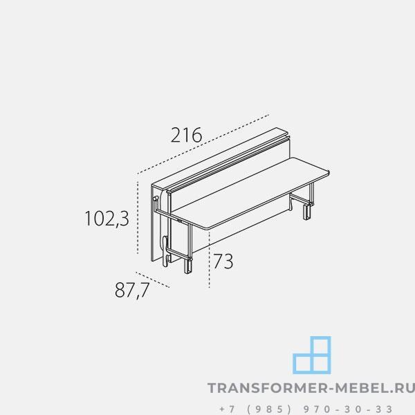 стол кровать трансформер - 7